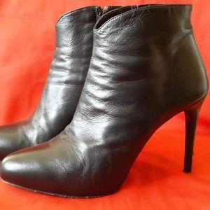 Fiori Francesi Black Soft Leather Booties Size 40